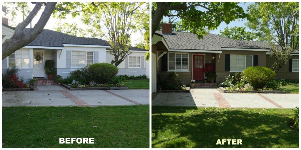 Exterior Painting - Before and After