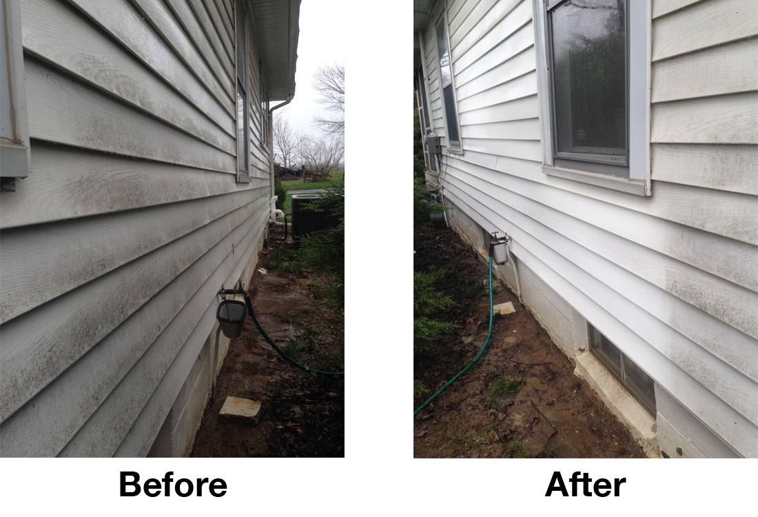 Power Wash Before and After