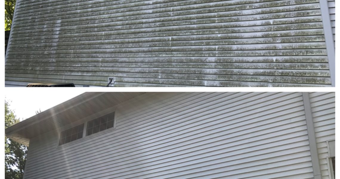 Softwashing homes all over Southern Illinois