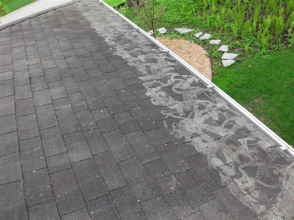Roof cleaning damage