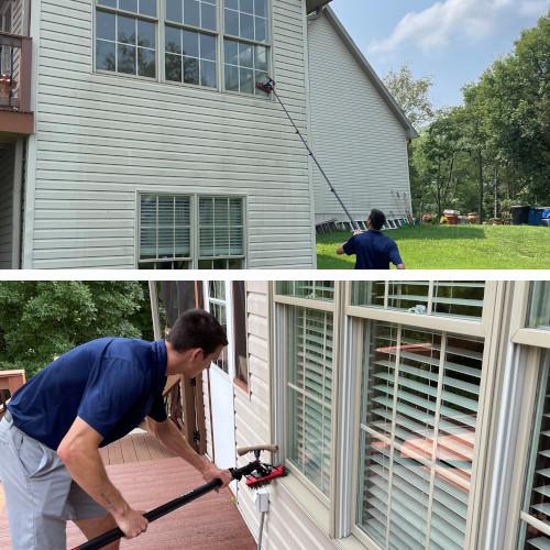 Window washing jobsite photos